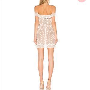 MAJORELLE Dresses - Bandit Dress in White - lace mesh MAJORELLE